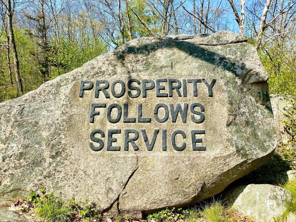Prosperity Follows Service